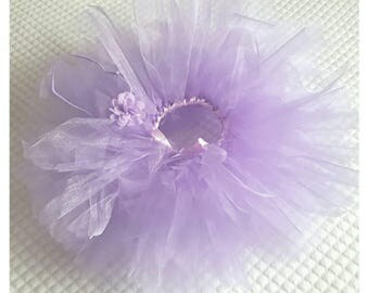 Lilac organza tutu set 12-24m. Ready to post.Birthday party/ Photography prop.