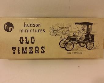 Vintage Hudson Miniatures Old Timers, 1902 Franklin, 1940's