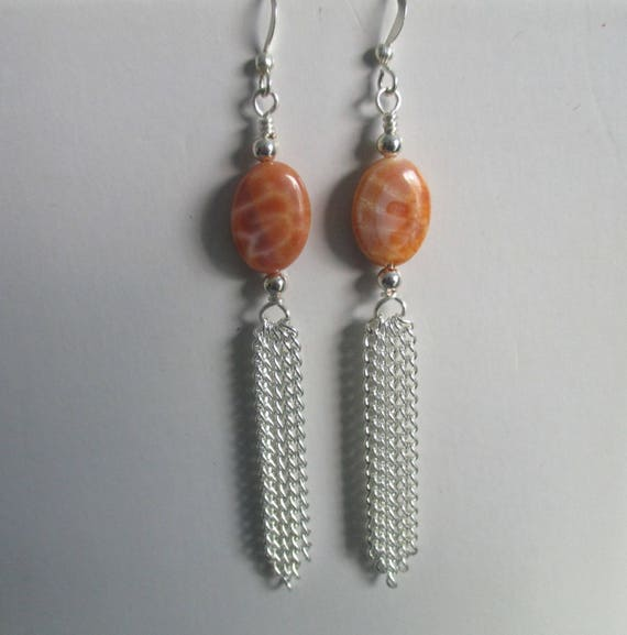 Fire Agate Earrings E6161713
