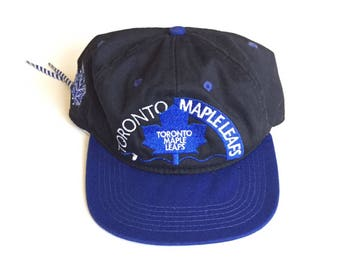 Vintage #1 Apparel CCM Toronto Maple Leafs sinchback MLB Baseball Snapback Strapback hat Adjustable Twill One Size Fits All Adult