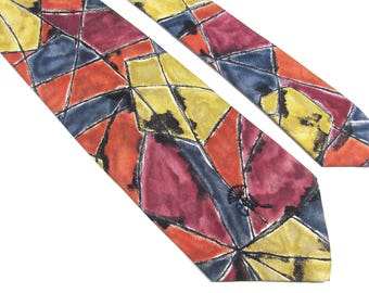 Vintage 1990's Countess Mara US Made high End Silk Excellent  Shape Pattern Mens Tie