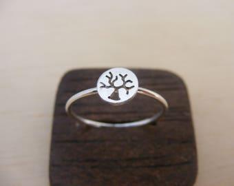 Silver Handmade Life tree Ring