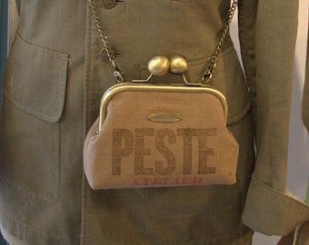 "Vintage ""Plague workshop"" purse shoulder bag"