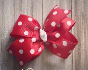Polka Dot Hair Bows. More Colors