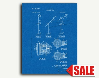 Patent Art - Microphone Stand Patent Wall Art Print