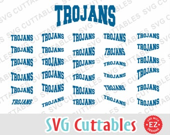Trojans svg, Trojans layouts, Trojans cut file, Trojans EZ Layouts, svg, eps, dxf, Silhouette file, Cricut cut file, digital download