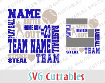 Baseball svg, Baseball Subway Art svg, Baseball dxf, eps, Baseball template, Silhouette file, Cricut cut file, Digital download
