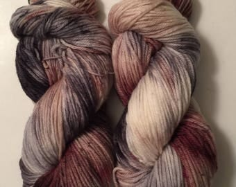 Hand Dyed Yarn worsted weight | 100% superwash merino wool  | 100 gr | Love on the Rocks / super soft Free shipping in the US