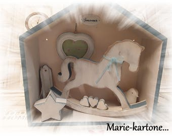 """Cabinet of curiosities """"The blue horse"""" House of memories while affection"""