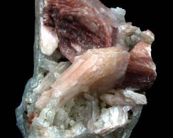 natural Stilbite Heulandite Chalcedony Minerals India #JA 238