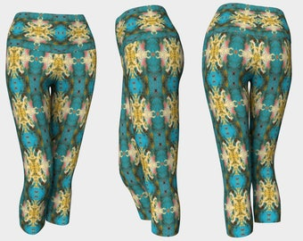 00512 Yoga Capri: Yoga Leggings, Yoga Tights, Running Tights, Yoga Pants, Leggings
