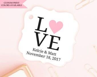 Love tags (30) - Wedding shower tags - Wedding favor tags - Wedding tags - Wedding gift tags