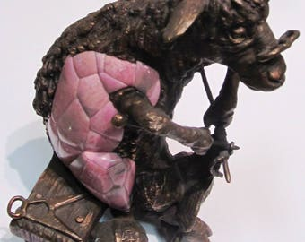 Sheep - altruist - author's sculpture bronze