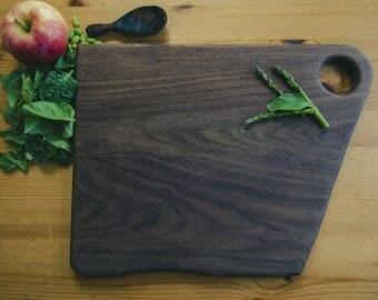 Hand-carved Walnut Cutting Board - Free Shipping