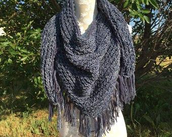 Leadville Shawl  --  a loom knit pattern