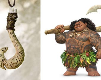 MAUI HOOK NECKLACE Luminescent, glow in the dark heart of the moana fiti cosplay fan art collection