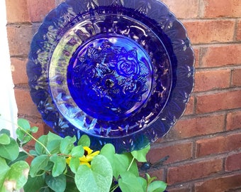 Queen Cobalt Glass Flower