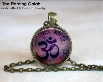 OM SYMBOL Pendant • Meditation • Purple OM • Buddhist Symbol • Yoga Symbol • Hindu Om • Gift Under 20 • Made in Australia (P1555)