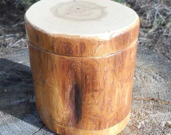 Large Juniper Cedar Salt Cellar/Treasure Keeper with Magnetic Lid