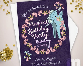 Magical Pegasus Kids Birthday Invitation, Kids Birthday Card, Digital Birthday Invitations, Digital Birthday Card, Printable Birthday Invite