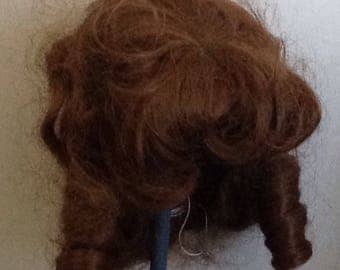 Vintage Size 15 Auburn Brown Doll Wig