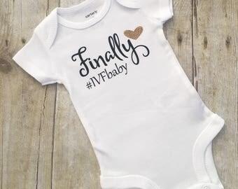 IVF, infertility, fertility, baby announcement, Onesie