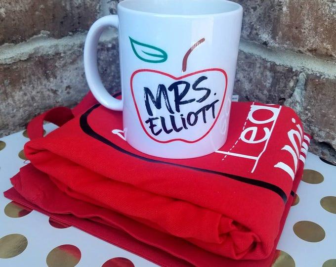 Ceramic Teacher Mug, Personalized Teacher Gift, Customized Teacher Mug, Teacher Christmas Gift, Teacher Appreciation Gift, Teacher Mug
