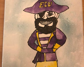ECU Pirate Canvas