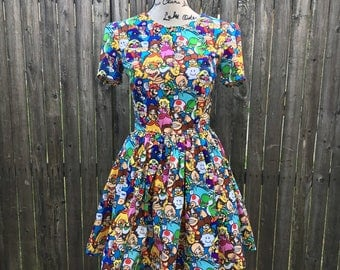 Dress Made with Super Mario Fabric
