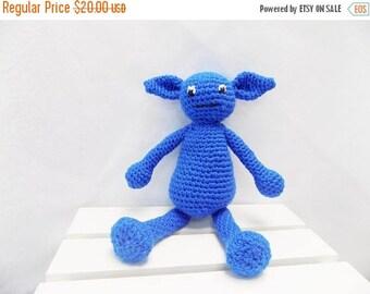 SALE, Crochet Monster - Ogre Monster -  Blue Monster - Goofy Monster - Amigurumi Monster -  Monster Plush -  Fantasy Creature