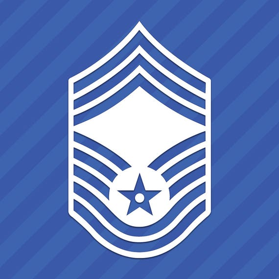 Air Force Chief Master Sergeant E-9 Symbol Vinyl Decal ...