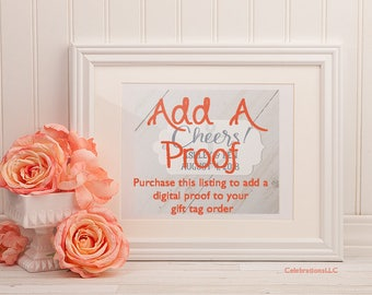 Digital Proof, Proof for Gift Tag Order, Proof Only