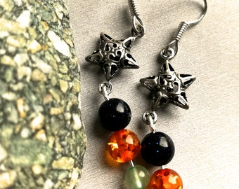 Night and day energy earrings