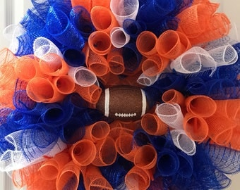 Denver Broncos inspired Wreath