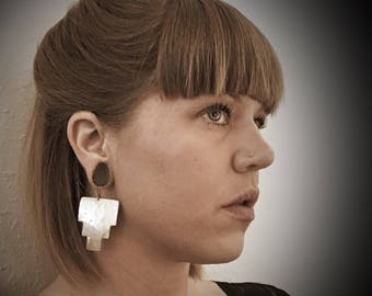 Geometric aztec inspired earings