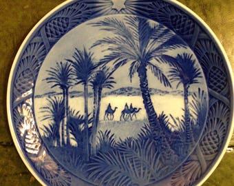 Royal Copenhagen Porcelain Plate - In The Dessert - 1972