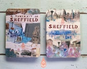 A portrait of Sheffield - concertina booklet zine illustrated book fold out book artbook location drawing sketches giftbook