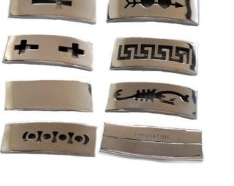 set of 9 large intermediaries steel for making leather bracelets