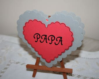 card heart father's day.
