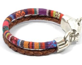 SPRING SALE horse bracelet, horse jewelry, western jewelry, equestrian bracelet, ethnic woven bracelet, horse lover bracelet, men leather br