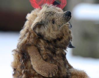 SOLD OUT!!! Oscar 23 cm   animals-stuffed- bear-interior toy-personalized teddy bear mohair- ooak-authors teddy bear