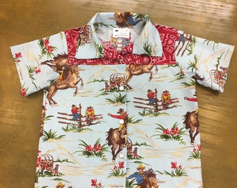 3T Western shirt for boys, button up shirt, Rodeo shirt, Boy's collared shirt, Cowboy shirt