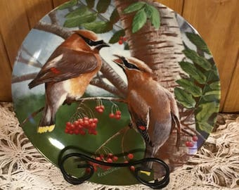 The Cedar Waxwing Numbered Plate from the Knowles Company