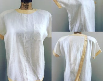 Ferragamo One of a kind white linen vintage shirt New With Tags!!