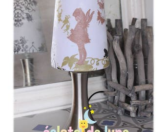 Light touch garden fairy white background with name personalized on the foot