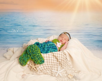 Dreamy Beach Sand And Water Vinyl Photography Backdrop