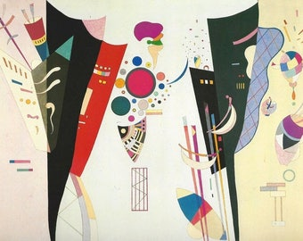 "Laminated placemat Kandinsky ""mutual agreement"""