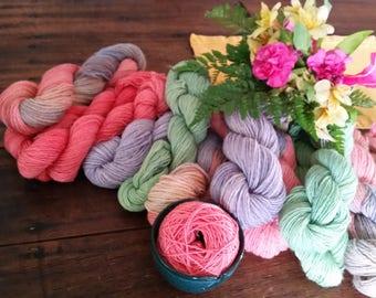 Alpaca-Merino Blend 3-Ply Worsted Yarn Sonoran Sunset