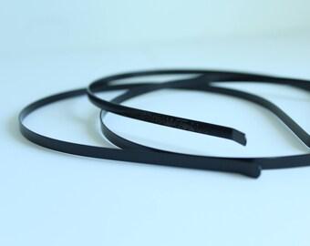 4 mm  Black Metal Headbands  / Black Headband MHBD-04B