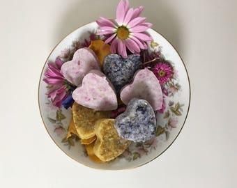 Foot Salt Scrubs w/Fresh Flower Petals